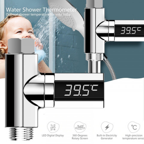 Faucet LED water thermometer
