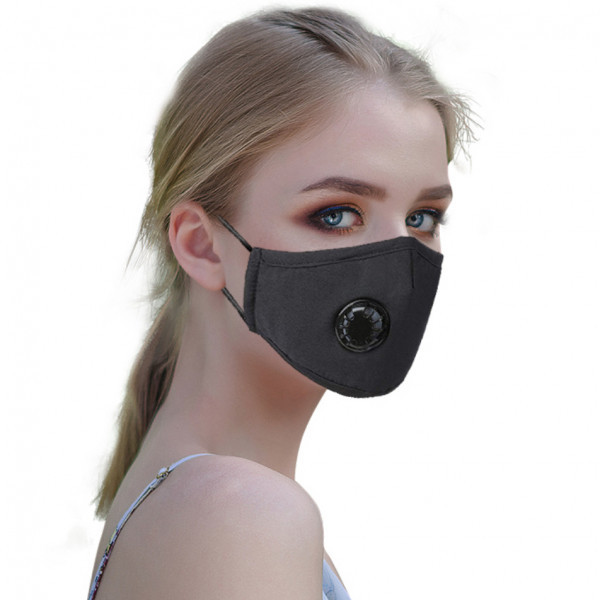 masque pollution noir coton