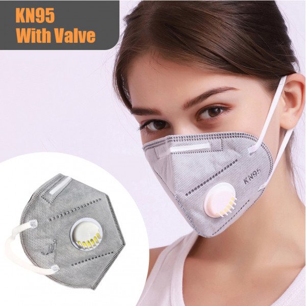 FFP2/KN95 Face Mask with exhalation valve Color Grey